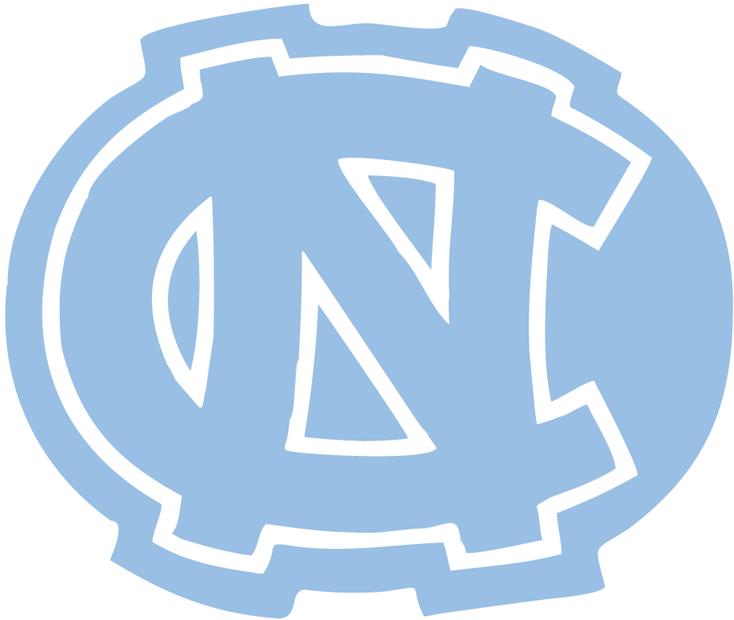 North Carolina Tar Heels Logo Alternate Logo (1974-1982) - Interlocking NC outlined in white on carolina blue SportsLogos.Net