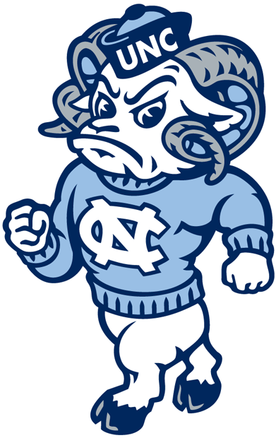 North Carolina Tar Heels Secondary Logo - NCAA Division I ...