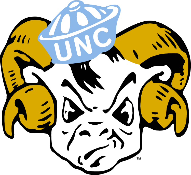 North Carolina Tar Heels Logo Primary Logo (1954-1967) -  SportsLogos.Net
