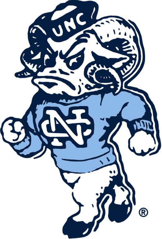 North Carolina Tar Heels Logo Primary Logo (1983-1998) -  SportsLogos.Net
