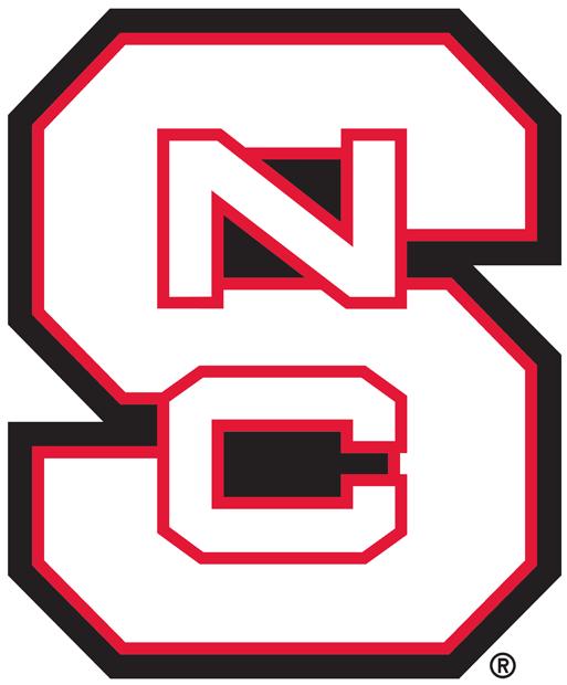 North Carolina State Wolfpack Logo Alternate Logo (2006-Pres) - A white version of the primary logo SportsLogos.Net