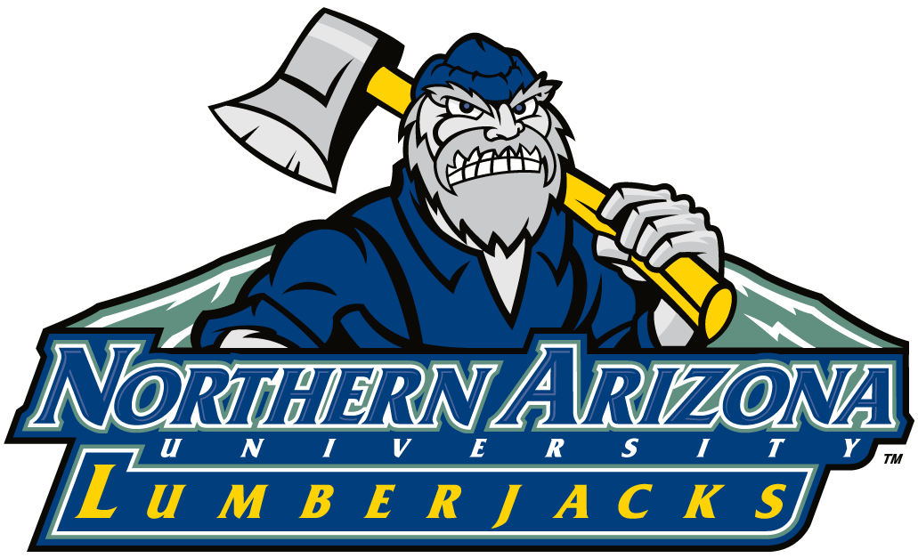 Northern Arizona Lumberjacks Logo Alternate Logo (2005-2013) - Lumberjack with script SportsLogos.Net