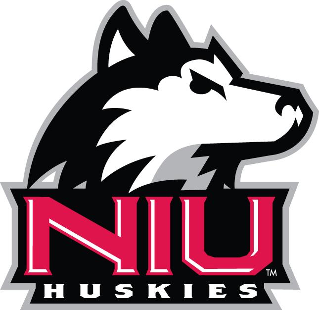 Northern Illinois Huskies Logo Primary Logo (2001-Pres) - Husky's head over NIU in red SportsLogos.Net