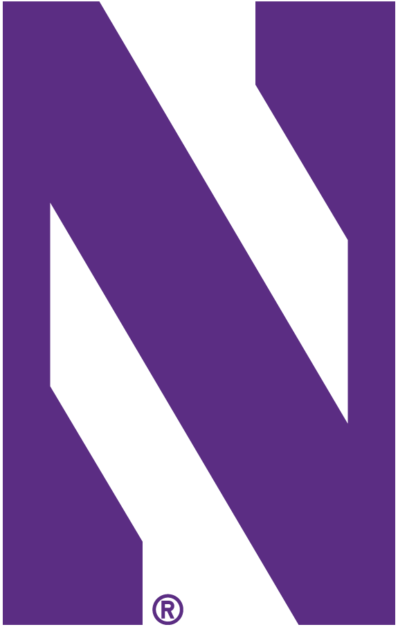 Northwestern Wildcats Logo Primary Logo (2012-Pres) - A stylized purple N SportsLogos.Net