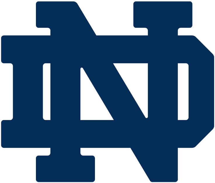 Notre Dame Fighting Irish Logo Primary Logo (1964-Pres) - An interlocking N and D in navy blue SportsLogos.Net