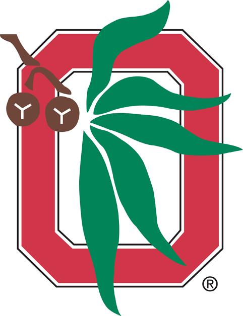 Ohio State Buckeyes Logo Alternate Logo (1968-Pres) - Red O with Buckeye leaves SportsLogos.Net