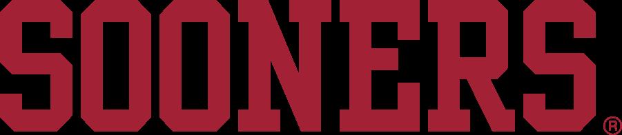 Oklahoma Sooners Logo Wordmark Logo (2005-2018) - Block SOONERS in crimson. This version is taller than the previous version. SportsLogos.Net