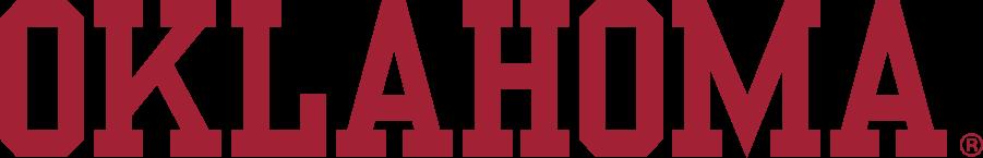 Oklahoma Sooners Logo Wordmark Logo (2005-2018) - Block OKLAHOMA in crimson, no outline. SportsLogos.Net