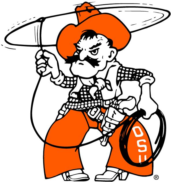 Oklahoma State Cowboys Mascot Logo Ncaa Division I N R