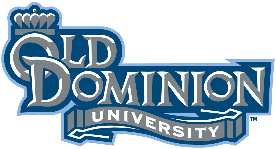 Old Dominion Monarchs Logo Wordmark Logo (2003-Pres) - School name in silver with blue outline SportsLogos.Net