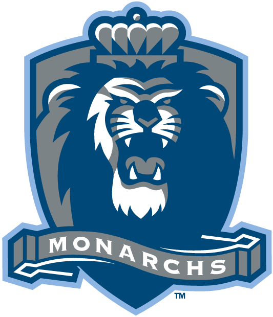 Old Dominion Monarchs Logo Alternate Logo (2003-Pres) - Roaring lion on a sliver shield with nickname on banner SportsLogos.Net