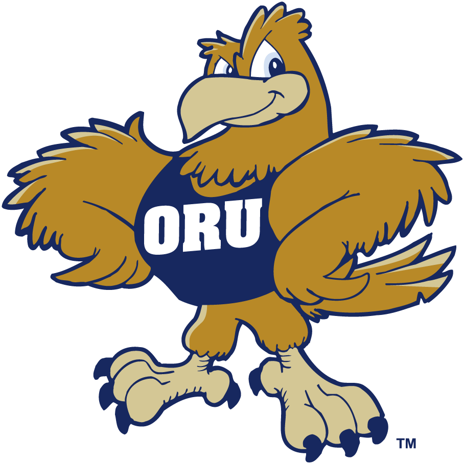 Oral Roberts Golden Eagles Logo Primary Logo (1993-Pres) - A golden eagle wearing an SportsLogos.Net