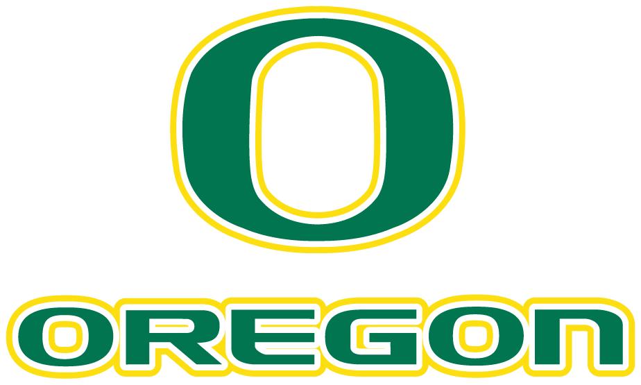 Oregon Ducks Logo Alternate Logo (1999-Pres) - Green O over Oregon in green SportsLogos.Net