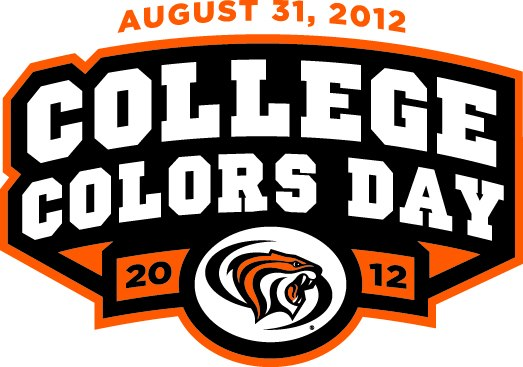 Pacific Tigers Logo Special Event Logo (2012) - 2012 Pacific Tigers College Colors Day Logo - August 31, 2012 SportsLogos.Net