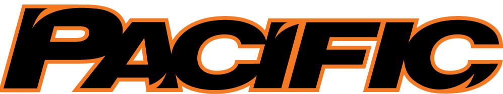 Pacific Tigers Logo Wordmark Logo (1998-Pres) - Pacific in black and orange italics SportsLogos.Net