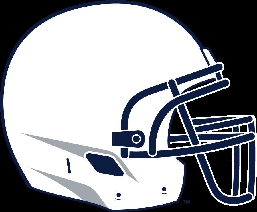 Penn State Nittany Lions Helmet Helmet (2008-Pres) - Right-facing white helmet with navy facemask. SportsLogos.Net