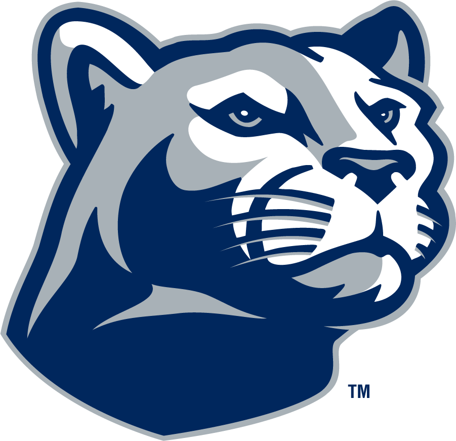 Penn State Nittany Lions Logo Secondary Logo (1996-2008) - Right-facing mountain lion head in navy and gray. SportsLogos.Net