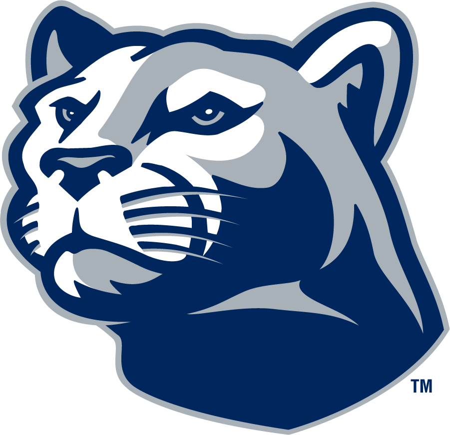 Penn State Nittany Lions Logo Secondary Logo (1996-2008) - Left-facing mountain lion head in navy and gray. SportsLogos.Net