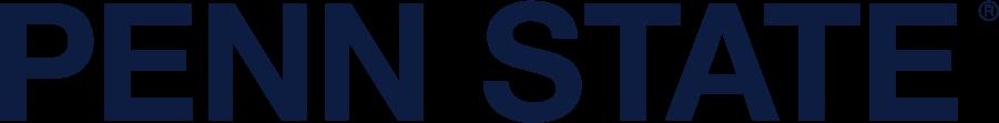 Penn State Nittany Lions Logo Wordmark Logo (2008-Pres) - Straight non-serif PENN STATE in navy. SportsLogos.Net