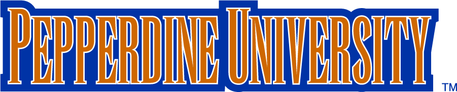 Pepperdine Waves Logo Wordmark Logo (1996-2003) - In the mid-\'90s Pepperdine adopted a new set of logos featuring King Neptune, new colors including with gradients, and new wordmarks. SportsLogos.Net