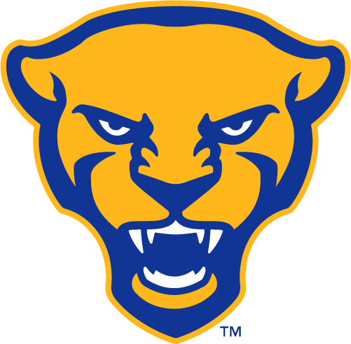 Pittsburgh Panthers Logo Alternate Logo (2019-Pres) - Panther head in yellow and royal blue SportsLogos.Net