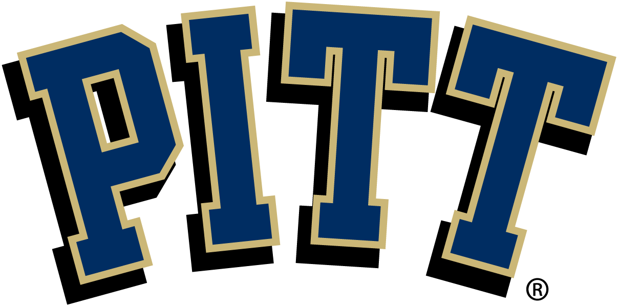 Pittsburgh Panthers Logo Primary Logo (2005-2015) - PITT in blue with gold outline SportsLogos.Net
