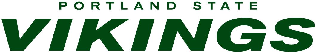 Portland State Vikings Logo Wordmark Logo (1999-2015) -  SportsLogos.Net
