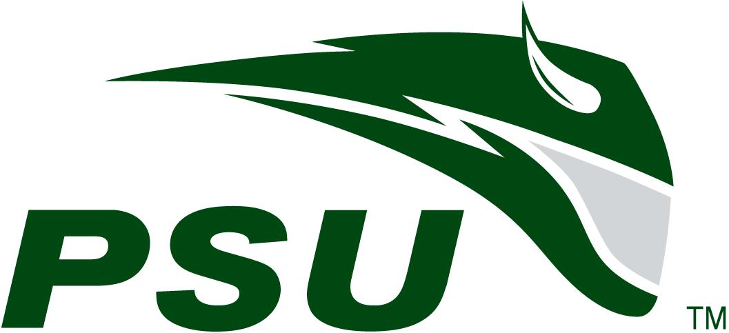 Portland State Vikings Logo Secondary Logo (1999-2015) - Green streak with a horn with green PSU SportsLogos.Net