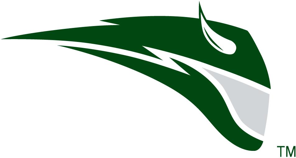Portland State Vikings Logo Secondary Logo (1999-2015) - Green streak with a horn SportsLogos.Net