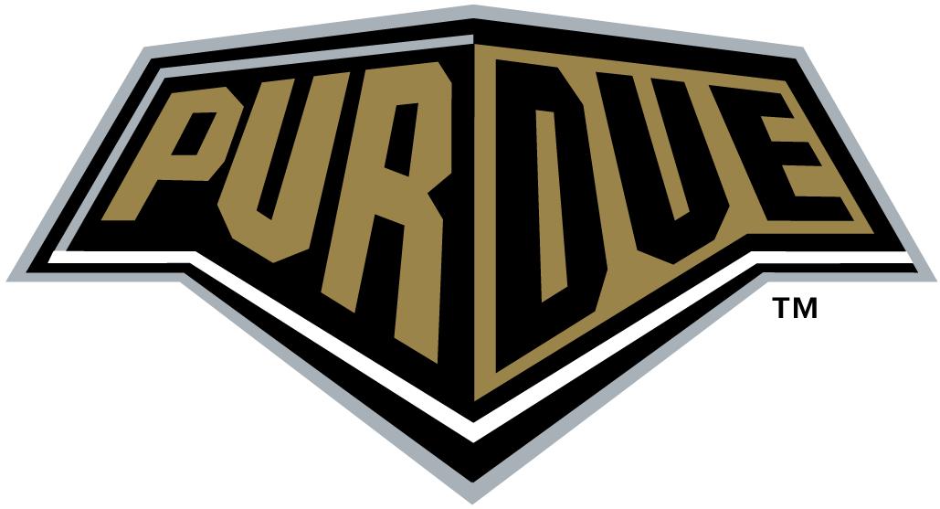 Purdue Boilermakers Logo Wordmark Logo (1996-2011) - Black and Gold Train Bumper with Purdue on it SportsLogos.Net