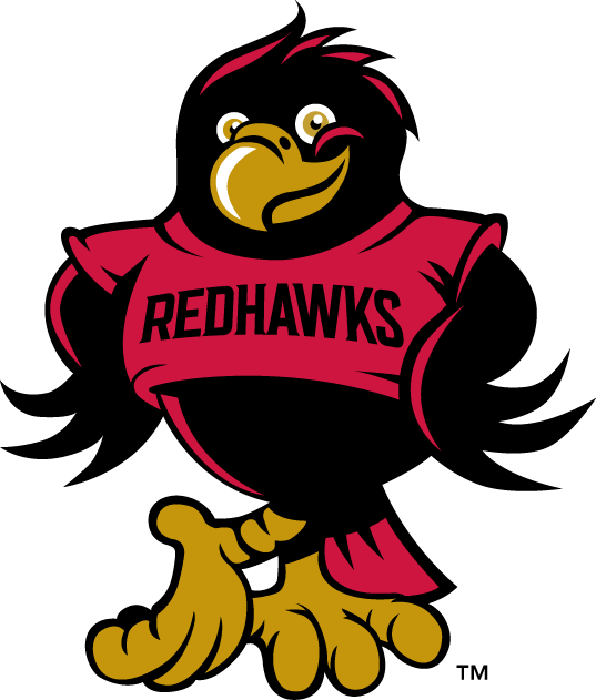 Seattle Redhawks Logo Mascot Logo (2008-Pres) - Rudy the Redhawk mascot/youthmark SportsLogos.Net