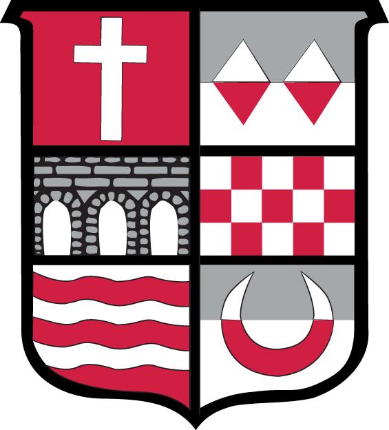 Sacred Heart Pioneers Logo Alternate Logo (1993-2003) - A multicolored multi image shield SportsLogos.Net
