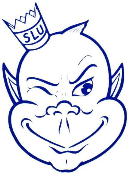 Saint Louis Billikens Logo Primary Logo (1971-1984) - Winking troll's head with a crown SportsLogos.Net