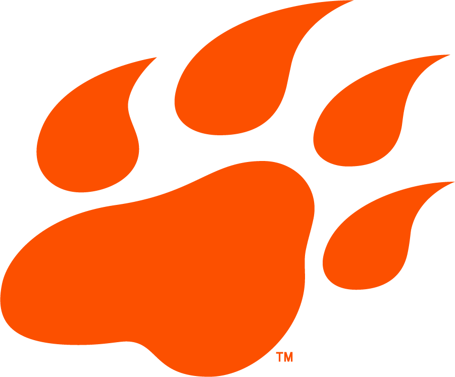 Sam Houston State Bearkats Logo Alternate Logo (2020-Pres) - As part of their rebranding efforts in 2020, the Sam Houston St Bearkats released this new secondary logo featuring a paw print in a darker shade of orange than used prevously by the school SportsLogos.Net