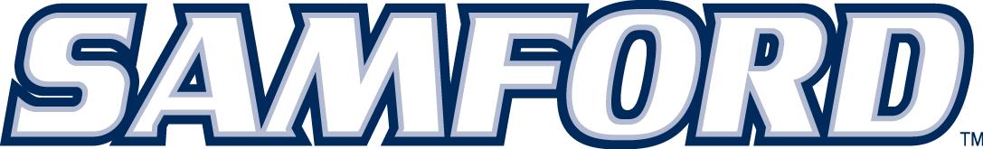 Samford Bulldogs Logo Wordmark Logo (2000-Pres) - Samford in white with blue outline SportsLogos.Net
