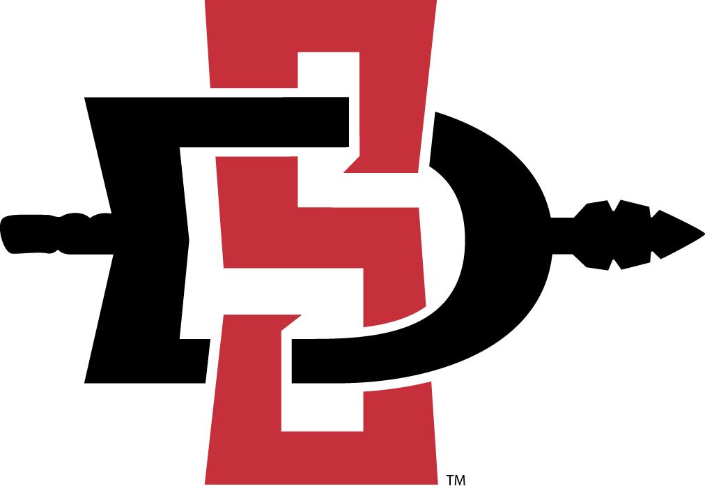 San Diego State Aztecs Logo Primary Logo (2013-Pres) - Scarlet S, black D and spear SportsLogos.Net