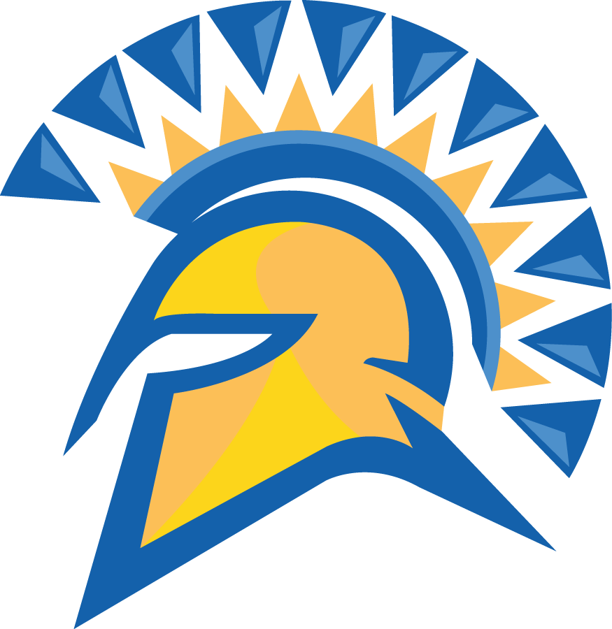 San Jose State Spartans Logo Primary Logo (2006-Pres) - Blue and Yellow Spartan's helmet SportsLogos.Net