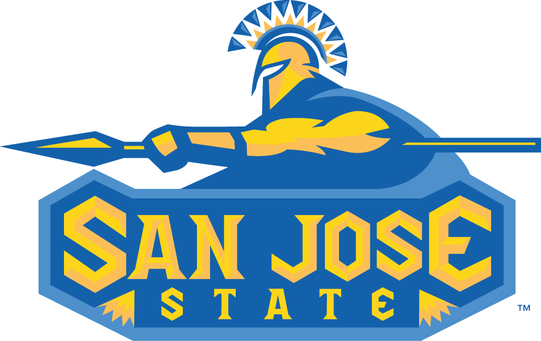 San Jose State Spartans Logo Primary Logo (2000-2005) - Spartan with a spear over script SportsLogos.Net