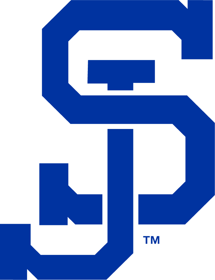 San Jose State Spartans Logo Alternate Logo (1983-Pres) - Interlock SJ logo commonly used for baseball. First appearance may have been sooner. SportsLogos.Net