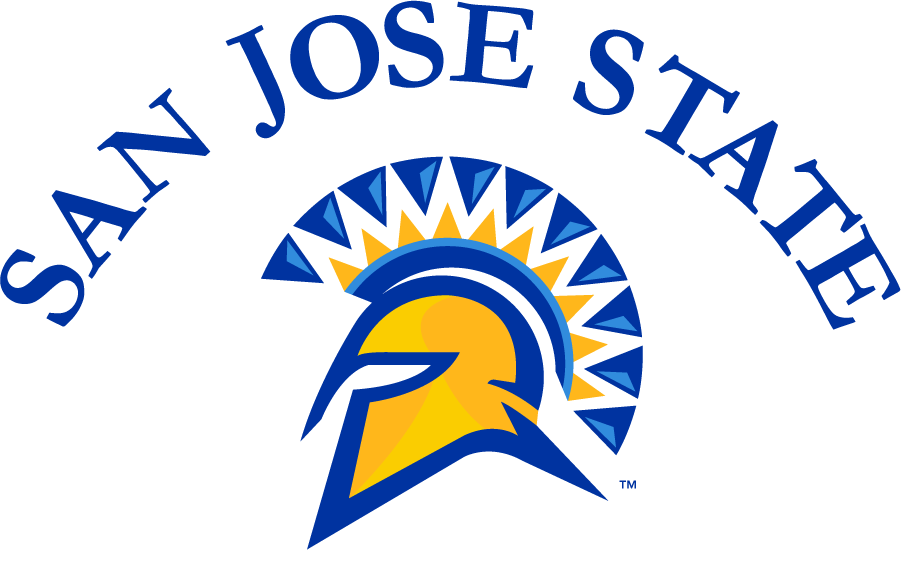 San Jose State Spartans Logo Alternate Logo (2010-2014) - Arched San Jose State over spartan helmet. SportsLogos.Net