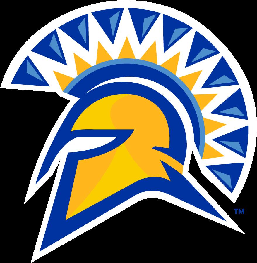 San Jose State Spartans Logo Primary Logo (2010-2018) - Primary Spartan helmet in 2 golds & 2 blues. SportsLogos.Net