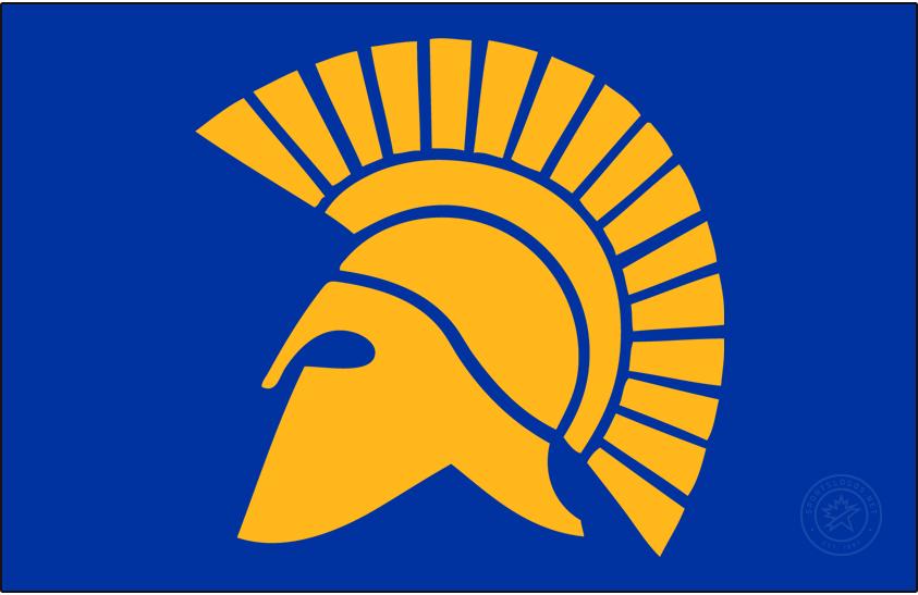 San Jose State Spartans Logo Primary Dark Logo (1985-1999) - Left-facing spartan logo. SportsLogos.Net
