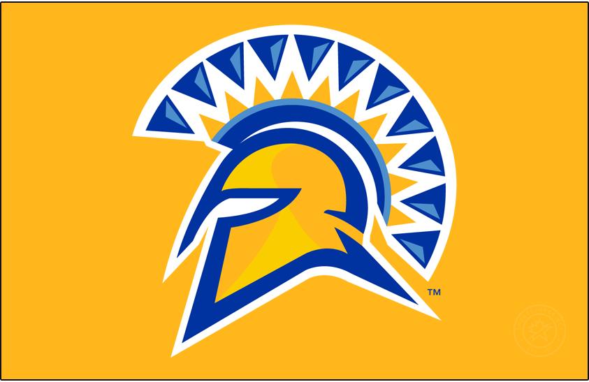 San Jose State Spartans Logo Primary Dark Logo (2010-2018) - Primary Spartan helmet on gold. SportsLogos.Net