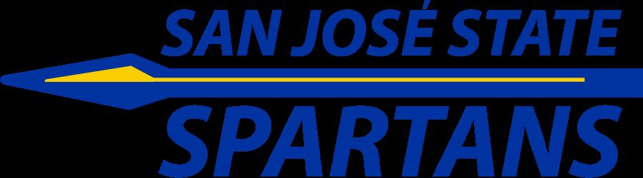 San Jose State Spartans Logo Wordmark Logo (2014-2018) - Wordmark of San Jose State over spear over Spartans SportsLogos.Net