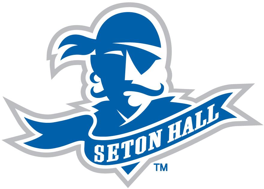Seton Hall Pirates Logo Primary Logo (1998-2008) - Pirate head with banner and school name SportsLogos.Net
