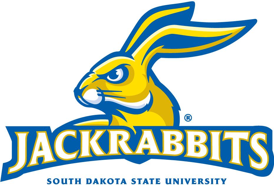 South Dakota State Jackrabbits Logo Alternate Logo (2008-Pres) - A yellow jackrabbit with Jackrabbits written across SportsLogos.Net