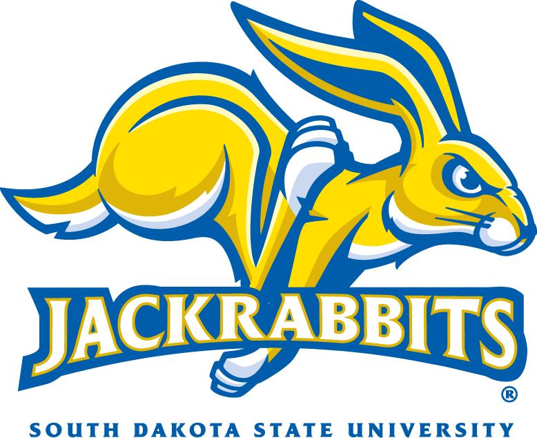 South Dakota State Jackrabbits Logo Primary Logo (2008-Pres) - A yellow jackrabbit with Jackrabbits written across SportsLogos.Net