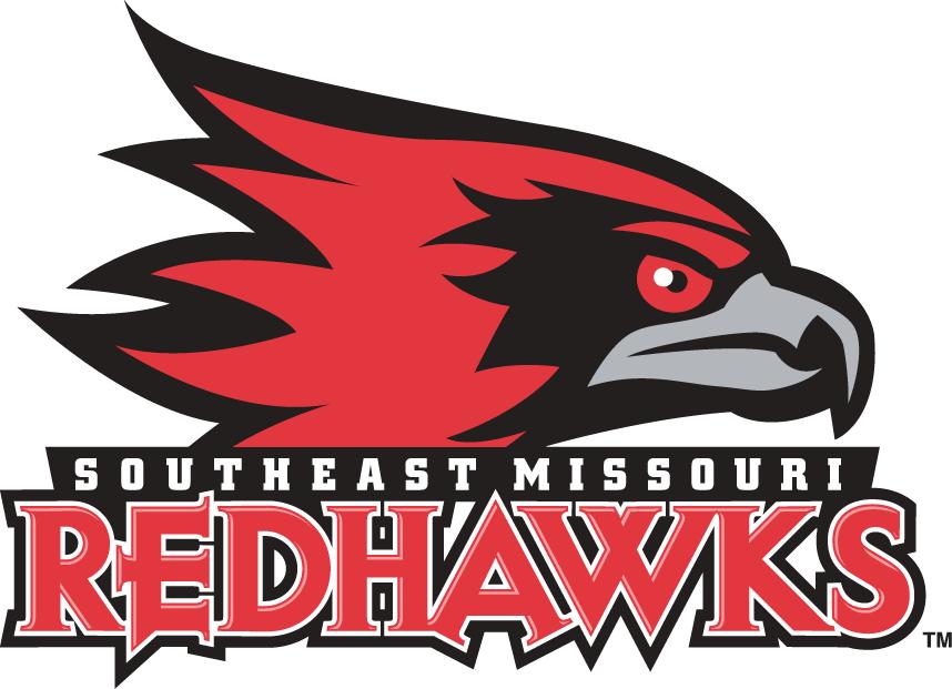 SE Missouri State Redhawks Logo Primary Logo (2005-2019) - Red Hawk head with full script SportsLogos.Net