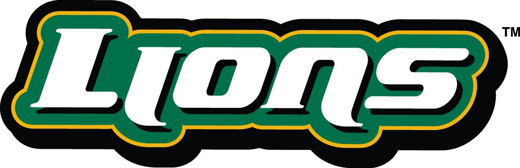 Southeastern Louisiana Lions Logo Wordmark Logo (2003-Pres) - Lions on white on green SportsLogos.Net