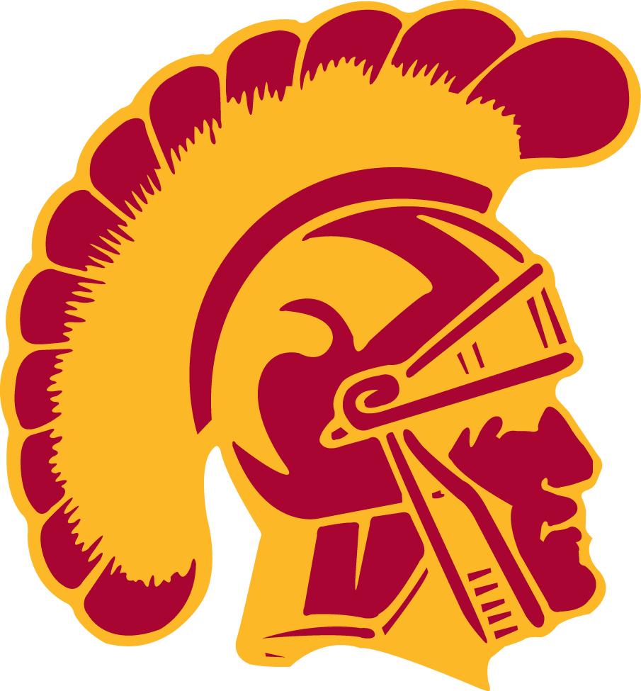 Southern California Trojans Logo Alternate Logo (1972-Pres) - Red and yellow Trojan head SportsLogos.Net